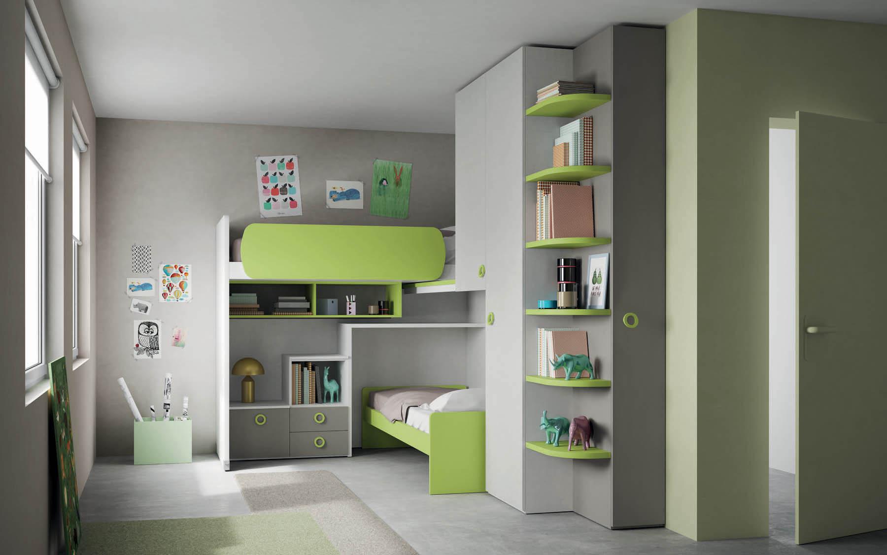 Camerette per bambini soluzioni salvaspazio camera for Soluzioni arredo salvaspazio