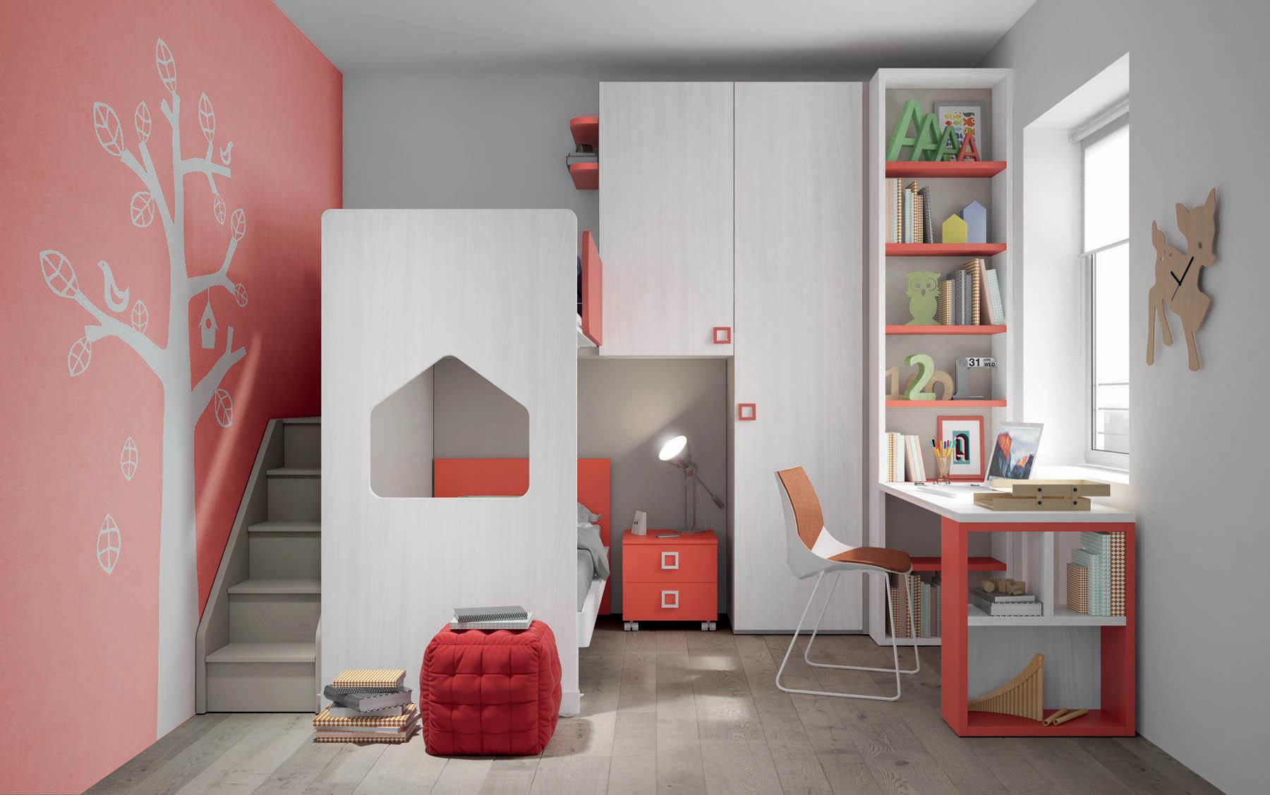 Camere e camerette salvaspazio per ragazzi - Mistral