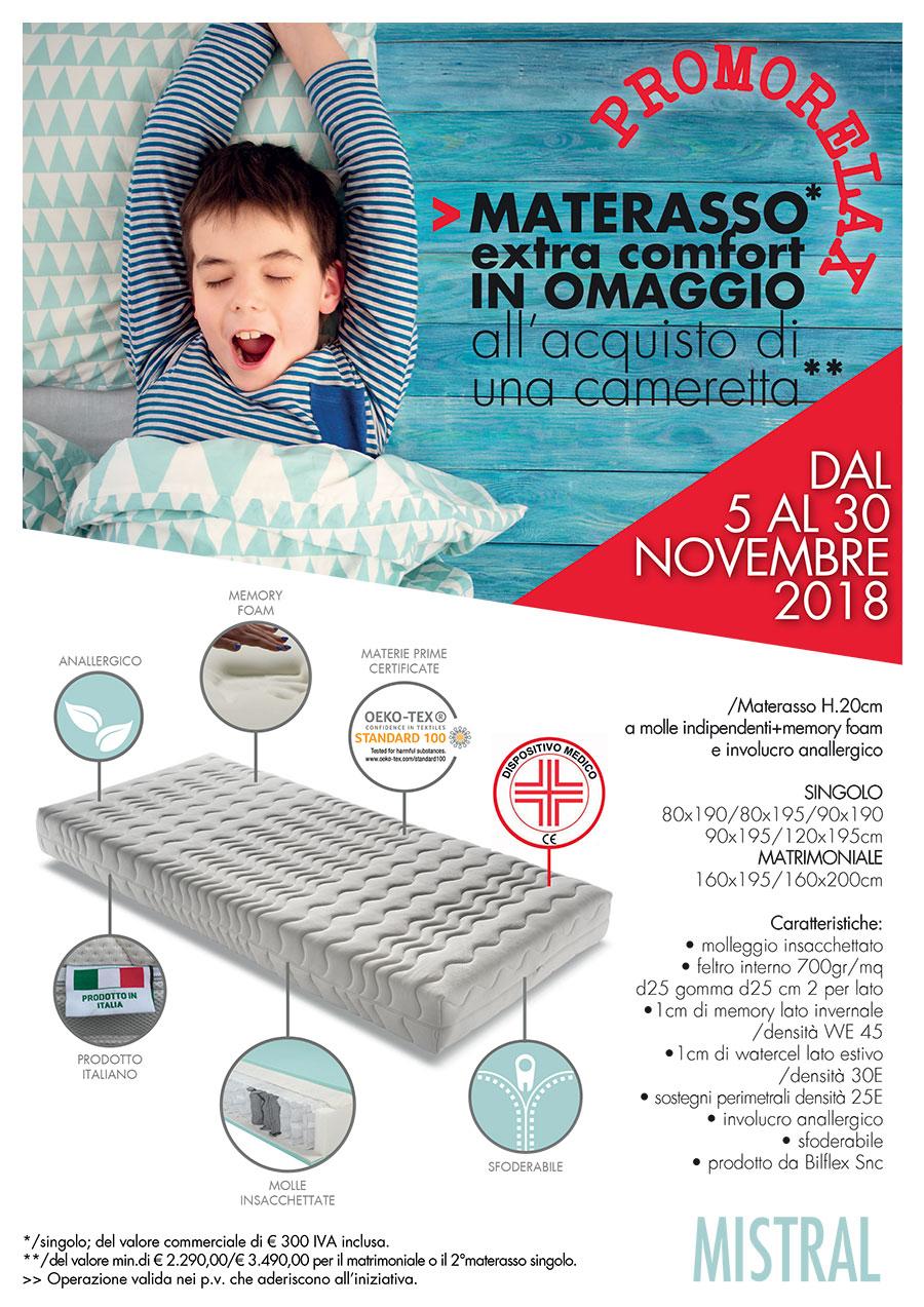 MATERASSO IN OMAGGIO extra comfort all'acquisto di una cameretta – Promo Novembre