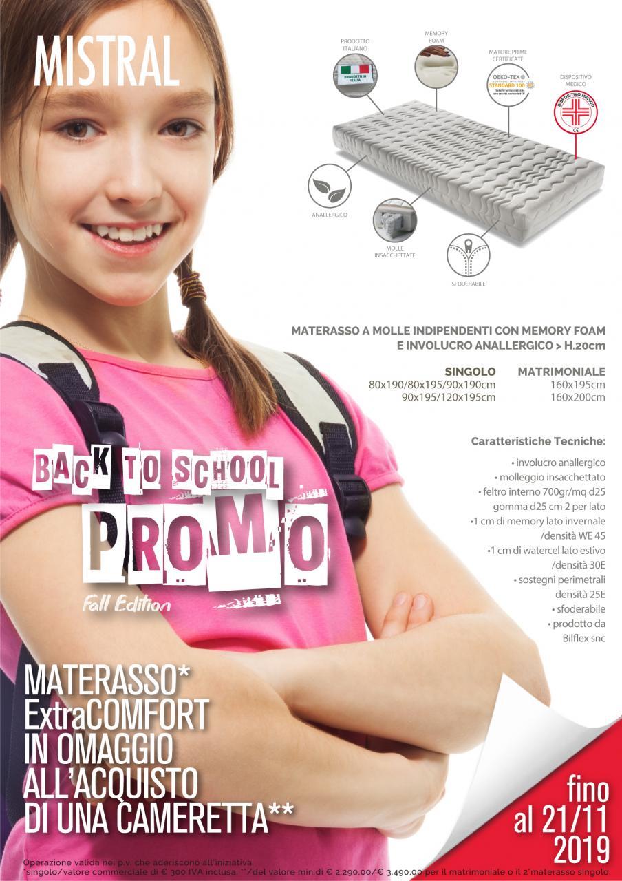 MATERASSO IN OMAGGIO extra comfort all'acquisto di una cameretta – Promo back to school